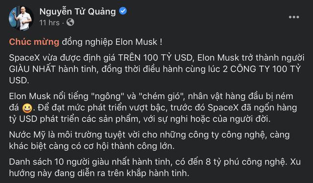 CEO BKAV Nguyễn Tử Quảng nói về đồng nghiệp Elon Musk: Ngông, chém gió, nhân vật hàng đầu bị ném đá - Ảnh 1.