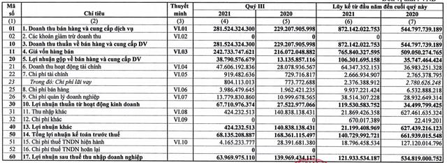 Công ty mẹ Cao su Phước Hòa (PHR) báo lãi quý 3/2021 giảm 54% so với cùng kỳ, lợi nhuận 9 tháng chỉ đạt 16% kế hoạch năm - Ảnh 1.