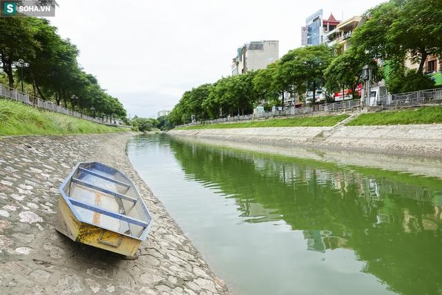 Nước sông Tô Lịch bỗng chuyển màu xanh ngắt hiếm thấy, người dân hân hoan bắt hàng tạ cá - Ảnh 11.