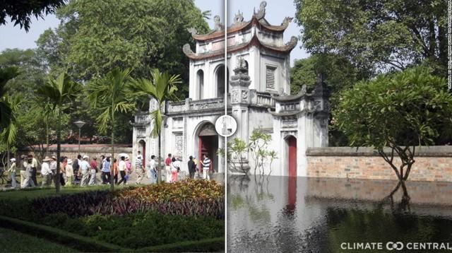 Mục sở thị viễn cảnh hành tinh nóng lên 3°C, Văn Miếu của Hà Nội cũng không thoát cảnh chìm trong biển nước - Ảnh 2.