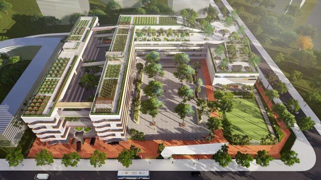 Trường cấp 2 ở Hà Nội đang khiến phụ huynh xôn xao: Công lập bình thường nhưng quá đẹp, hoành tráng không thua trường tư - Ảnh 2.