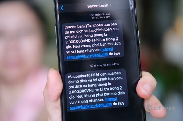 Nhiều người dân TP.HCM bị gửi tin nhắn lừa đảo - Ảnh 1.