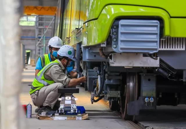 Cận cảnh 10 đoàn tàu tuyến Metro Nhổn - ga Hà Nội sẵn sàng chạy thử nghiệm  - Ảnh 7.