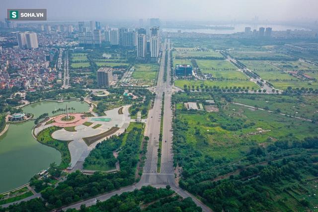 Tuyến đường Tây Thăng Long rộng thênh thang, đẹp hút hồn chạy xuyên qua khu đô thị đắt đỏ nhất Thủ đô - Ảnh 1.