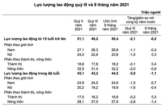 GDP quý 3 giảm sâu ảnh hưởng ra sao đến lương bình quân lao động? - Ảnh 1.