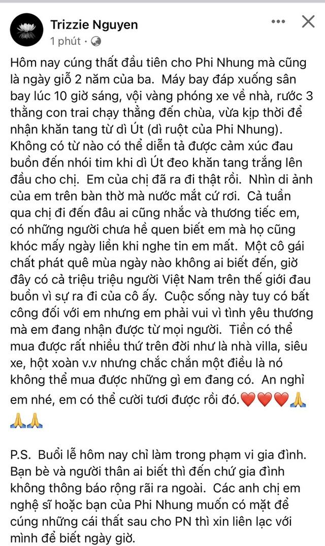Lễ cúng thất đầu của ca sĩ Phi Nhung ở Mỹ: Con gái ruột và vợ cũ Bằng Kiều đội tang, Thanh Thảo - Thu Hoài cùng dàn sao Việt đến chia buồn - Ảnh 2.