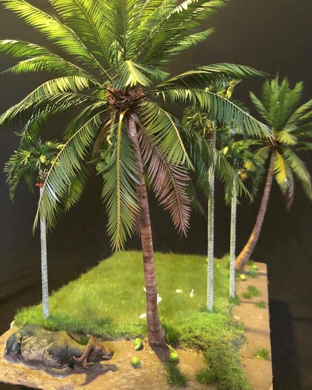 Nghỉ dịch ở nhà, chàng phụ hồ trổ tài làm cả vườn cây xanh từ giấy, dây thép: Tác phẩm khiến nhiều người nể - Ảnh 2.