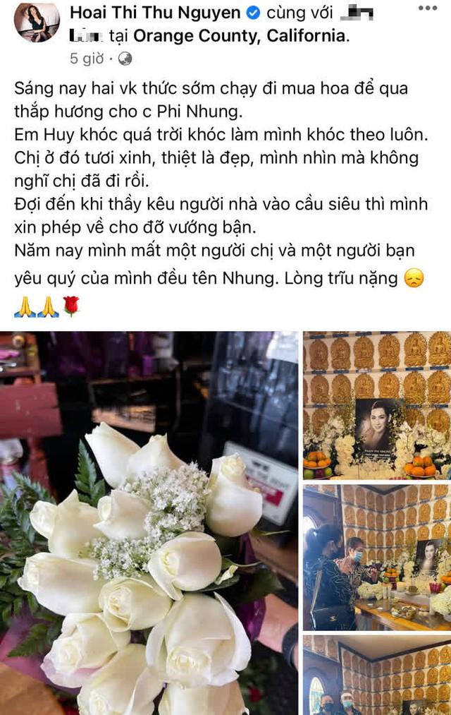 Lễ cúng thất đầu của ca sĩ Phi Nhung ở Mỹ: Con gái ruột và vợ cũ Bằng Kiều đội tang, Thanh Thảo - Thu Hoài cùng dàn sao Việt đến chia buồn - Ảnh 11.