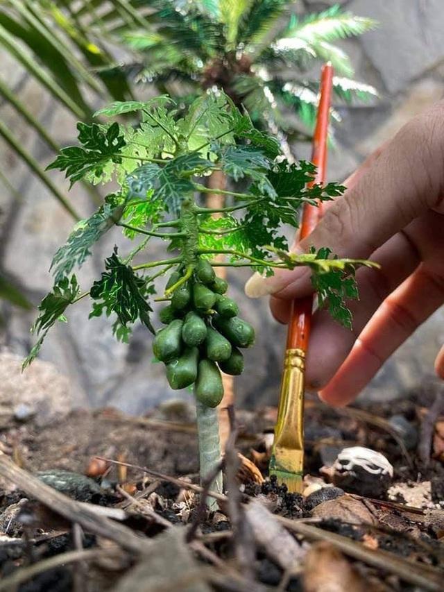 Nghỉ dịch ở nhà, chàng phụ hồ trổ tài làm cả vườn cây xanh từ giấy, dây thép: Tác phẩm khiến nhiều người nể - Ảnh 6.