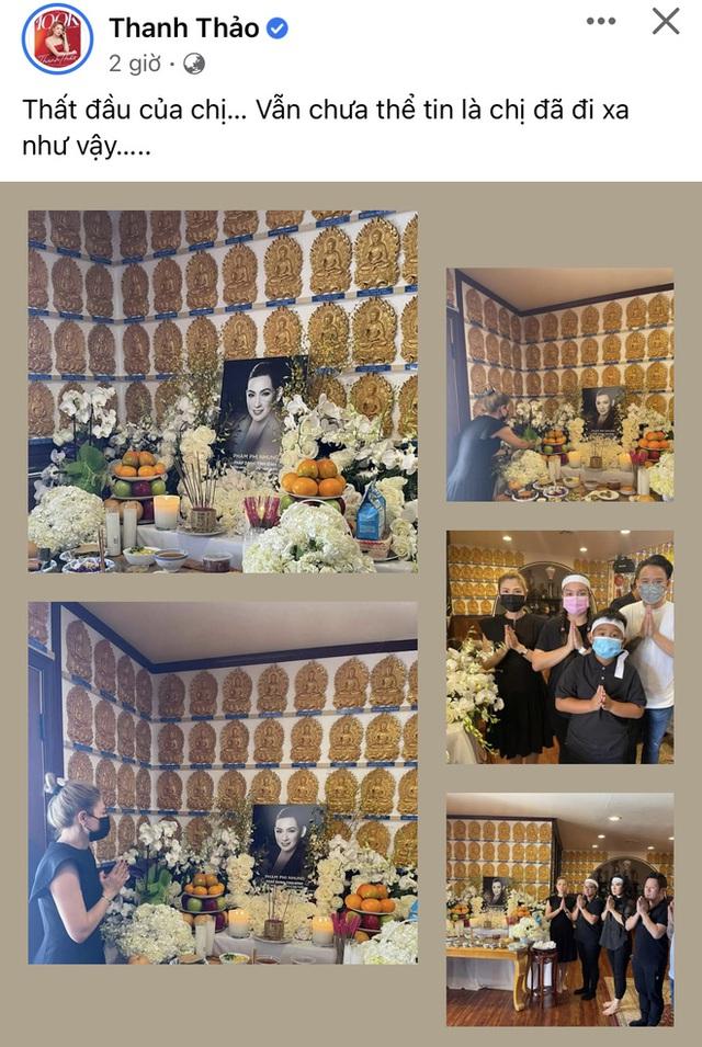 Lễ cúng thất đầu của ca sĩ Phi Nhung ở Mỹ: Con gái ruột và vợ cũ Bằng Kiều đội tang, Thanh Thảo - Thu Hoài cùng dàn sao Việt đến chia buồn - Ảnh 8.