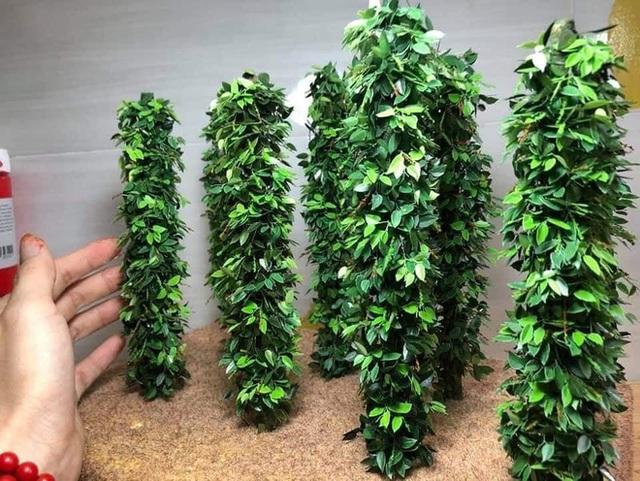 Nghỉ dịch ở nhà, chàng phụ hồ trổ tài làm cả vườn cây xanh từ giấy, dây thép: Tác phẩm khiến nhiều người nể - Ảnh 8.