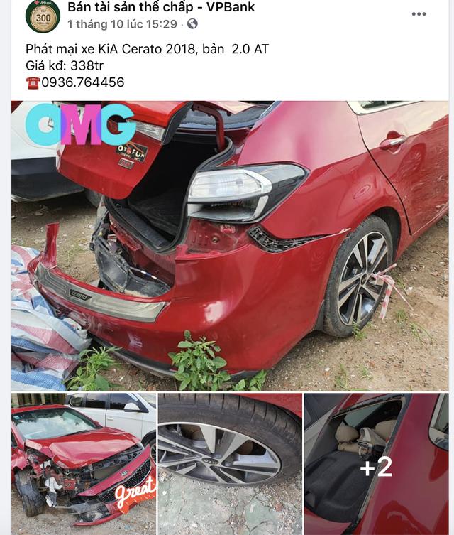 Ngân hàng phát mại xe Kia Cerato 2018 nát bét giá 338 triệu đồng - Ảnh 1.