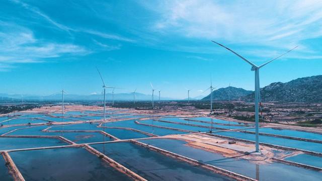 Quốc tế đưa tin về tổ hợp kinh tế muối và năng lượng tái tạo lớn nhất Việt Nam - Ảnh 1.