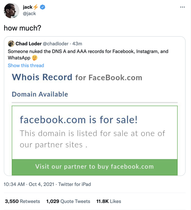 Chuyện không ai ngờ: Facebook phải đăng bài xin lỗi về sự cố sập trên Twitter, bị đối thủ chế nhạo, dìm hàng không thương tiếc - Ảnh 3.