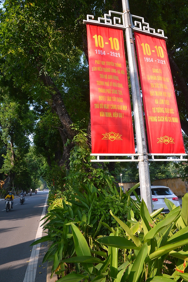 Đường phố Hà Nội rực rỡ chào mừng Kỷ niệm 67 năm Ngày Giải phóng Thủ đô - Ảnh 5.