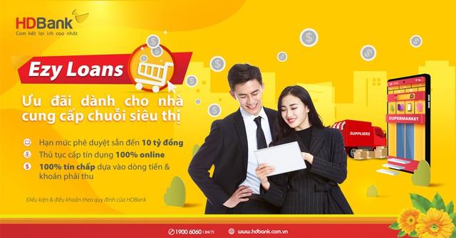 HDBank cấp tín dụng 100% online, tiếp sức nguồn vốn ưu đãi cho nhà cung cấp siêu thị - Ảnh 1.