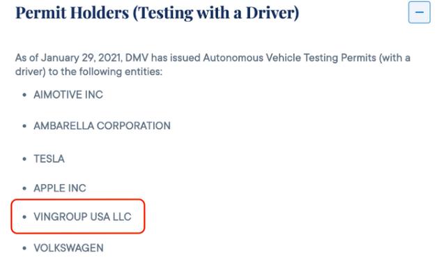 VinFast được cấp phép thử nghiệm xe điện tự hành tại California, Mỹ - Ảnh 2.