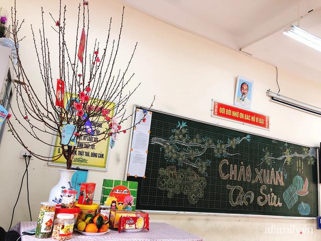 Không khí đón giao thừa tại trường tiểu học Xuân Phương, cái Tết đáng nhớ của thầy trò và phụ huynh trong khu cách ly  - Ảnh 6.