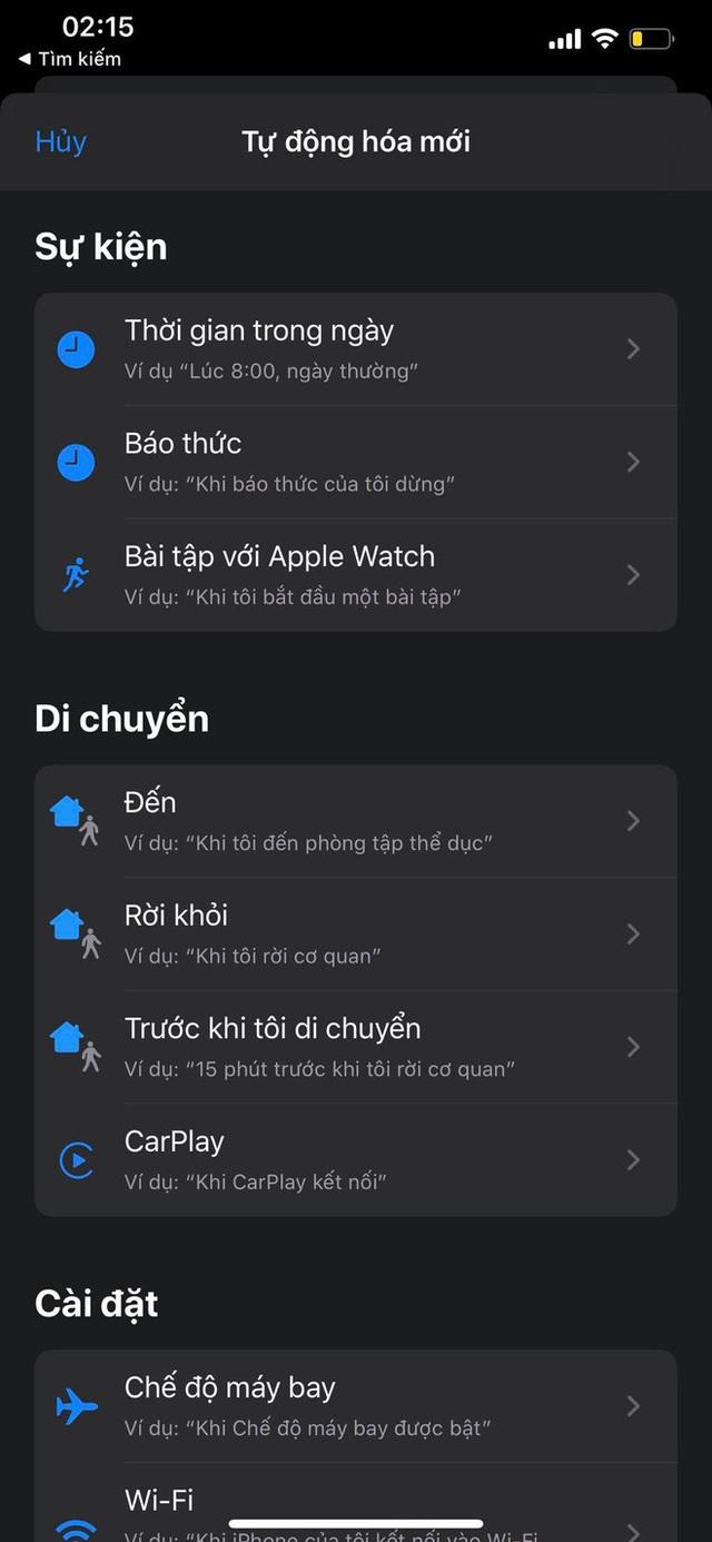 Mẹo bật, tắt Chế độ máy bay tự động theo khung giờ nhất định trên iPhone - Ảnh 4.