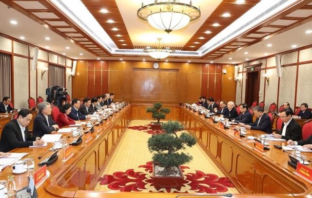 Tổng Bí thư, Chủ tịch nướcchủ trì phiên họp đầu tiên của Bộ Chính trị và Ban Bí thư  - Ảnh 1.