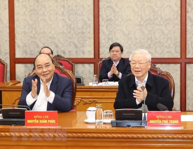 Tổng Bí thư, Chủ tịch nướcchủ trì phiên họp đầu tiên của Bộ Chính trị và Ban Bí thư  - Ảnh 3.