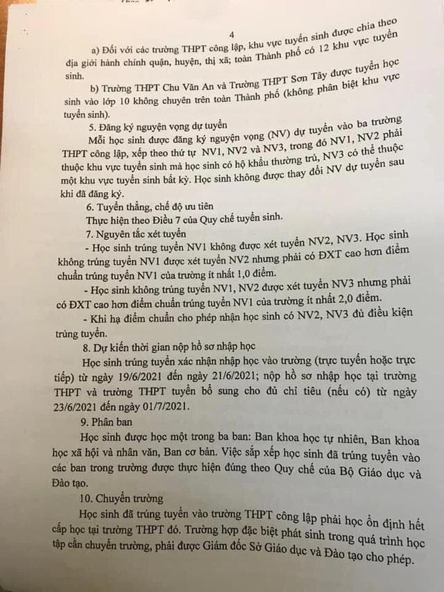 4 thay đổi quan trọng trong kỳ thi tuyển sinh lớp 10 năm 2021 ở Hà Nội, học sinh cần nắm rõ tránh đăng ký nguyện vọng sai sót - Ảnh 4.