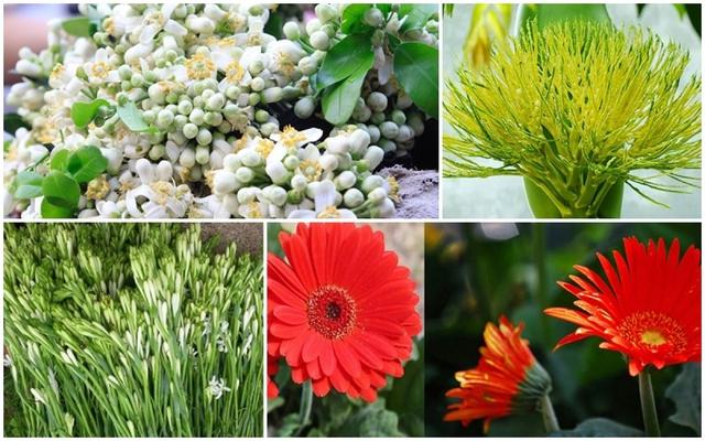 Hoa bưởi, hoa cau...đắt hàng dịp rằm tháng Giêng - Ảnh 1.