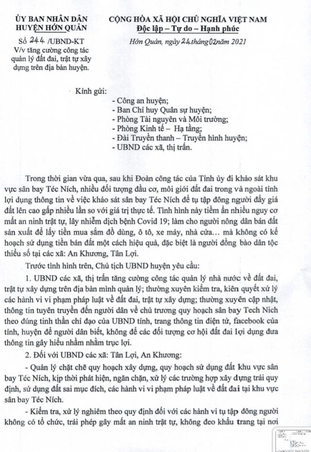 Cảnh giác sốt đất ảo ăn theo quy hoạch sân bay ở Bình Phước - Ảnh 4.