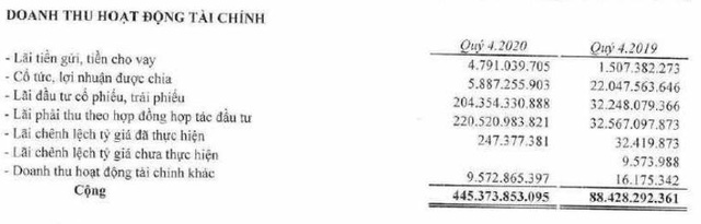 Bamboo Capital (BCG): Doanh thu tài chính đột biến, quý 4/2020 lãi cao gấp 11 lần cùng kỳ năm trước - Ảnh 1.