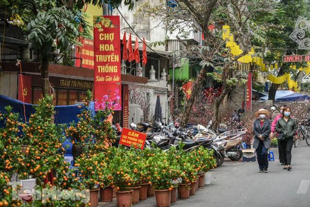 Ghé thăm chợ hoa cổ nhất Hà Nội giữa mùa dịch COVID-19 - Ảnh 3.