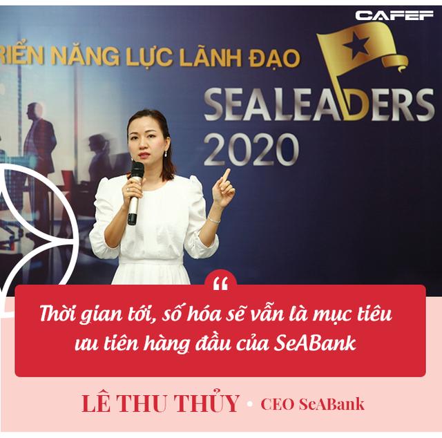 CEO SeABank Lê Thu Thủy: Sẽ có cuộc chạy đua gay gắt trong ngành ngân hàng năm 2021 - Ảnh 3.