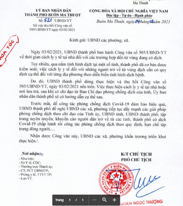 Thu hồi công văn yêu cầu cách ly công dân từ TP HCM, Bình Dương về quê ăn Tết  - Ảnh 1.