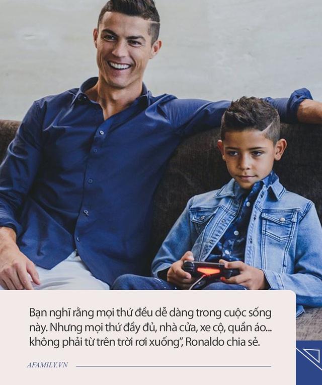 Siêu sao Ronaldo dù bận rộn vẫn đích thân làm điều này cho con trai, nhưng câu chuyện đằng sau mới khiến nhiều người thích thú - Ảnh 2.