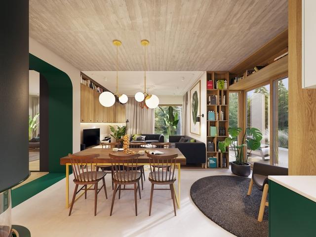 Tham khảo các thiết kế phòng ăn gắn liền với phòng khách tinh tế đến không ngờ - Ảnh 5.