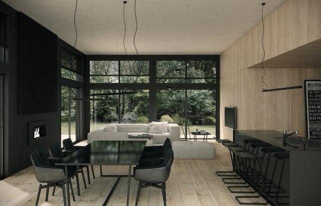 Tham khảo các thiết kế phòng ăn gắn liền với phòng khách tinh tế đến không ngờ - Ảnh 6.