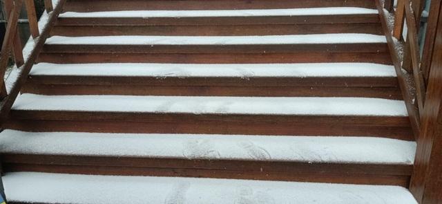 CLIP: Cảnh tuyệt đẹp trên đỉnh Fansipan khi mưa tuyết rơi dày  - Ảnh 4.