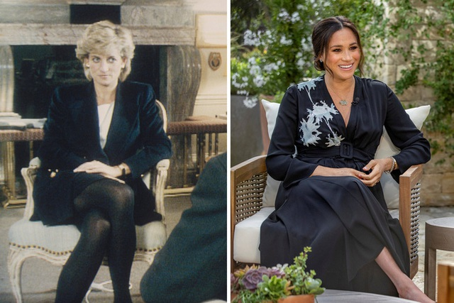 Đều thực hiện cuộc phỏng vấn rúng động hoàng gia, Meghan Markle phải cúi đầu xấu hổ trước cách ứng xử đẳng cấp của Công nương Diana - Ảnh 1.