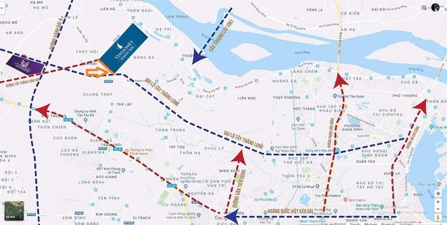 Hà Nội mở rộng một tuyến đường gần dự án Vinhomes Đan Phượng - Ảnh 1.