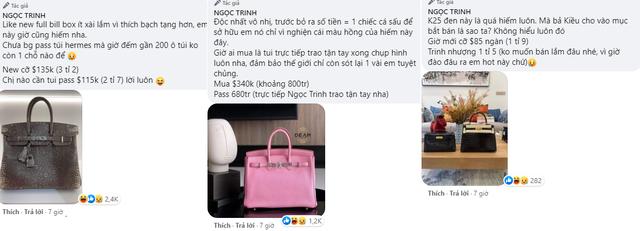 Ngọc Trinh đăng bán toàn hàng hiệu thu hút tương tác khủng trên mạng xã hội: Từ kim cương tới đồng hồ Rolex vàng nguyên khối, túi xách Hermes Birkin đều thanh lý với giá hời - Ảnh 6.