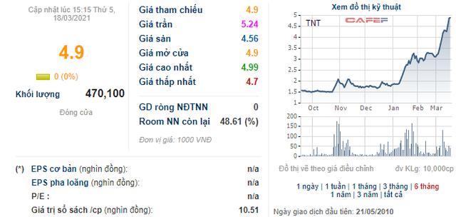 TNT tăng 2,6 lần từ đầu năm, Chủ tịch công ty vẫn bị bán giải chấp hơn 1,2 triệu cổ phiếu - Ảnh 1.