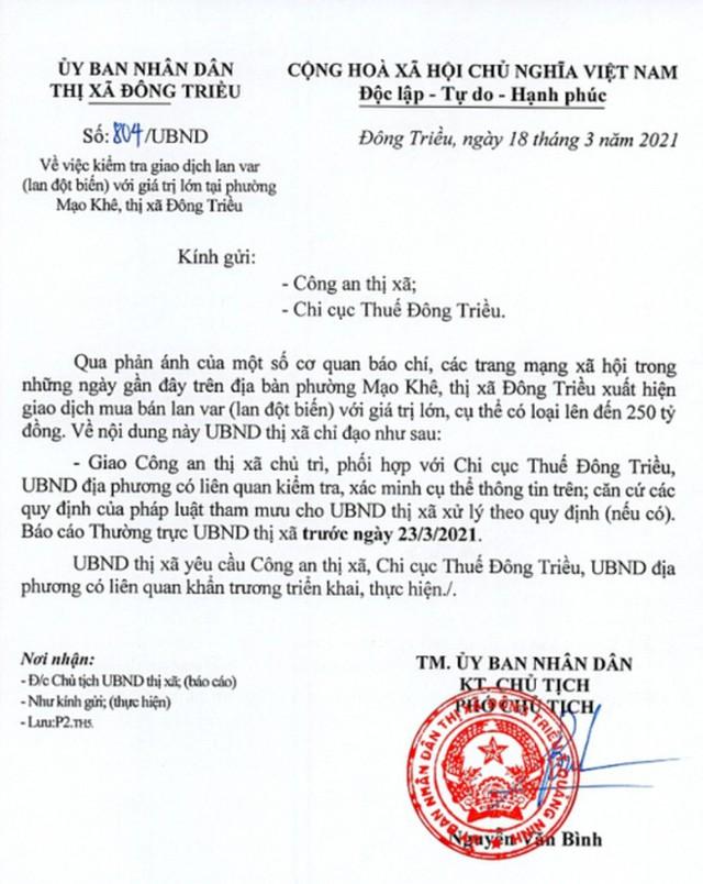 Công an vào cuộc vụ bán lan đột biến 250 tỷ đồng ở Quảng Ninh - Ảnh 1.