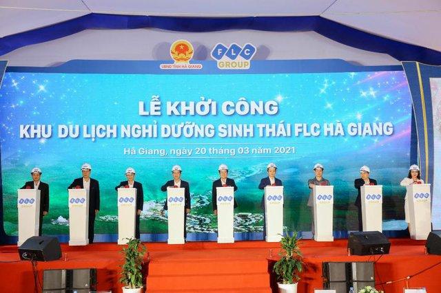 Khởi công Khu du lịch nghỉ dưỡng sinh thái cao cấp FLC Hà Giang - Ảnh 1.