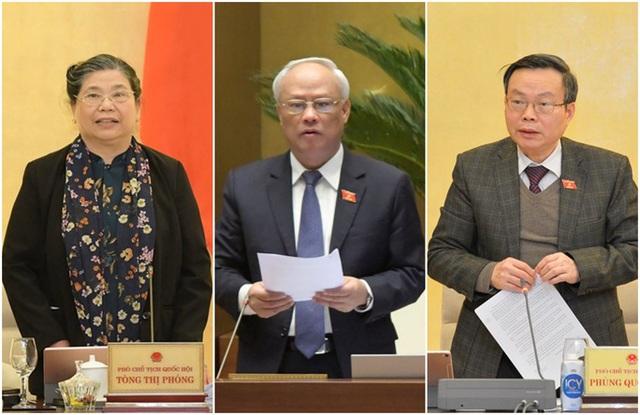Trình miễn nhiệm các Phó Chủ tịch Quốc hội Tòng Thị Phóng, Uông Chu Lưu và Phùng Quốc Hiển - Ảnh 1.
