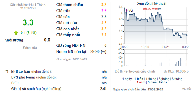 Sau nửa năm làm cổ đông lớn, 1 lãnh đạo của Hùng Vương (HVG) lại đăng ký bán ra gần 37 triệu cổ phiếu HVG - Ảnh 1.
