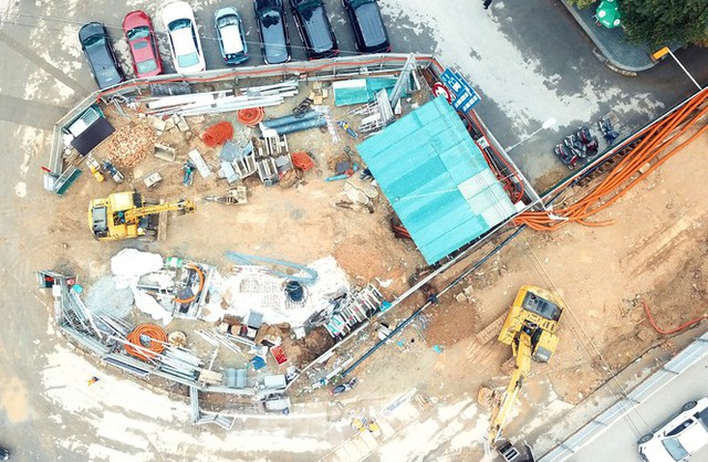 Tăng tốc thi công hầm chui đường bộ nút giao Lê Văn Lương - Khuất Duy Tiến - Ảnh 7.
