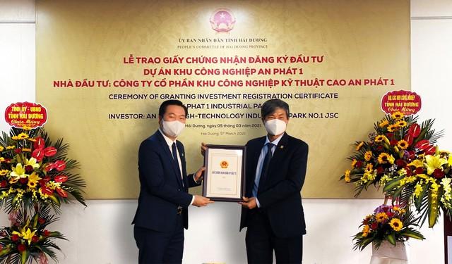 KCN Quốc Tuấn - An Bình của An Phát Holdings nhận giấy chứng nhận đăng ký đầu tư, chính thức đổi tên thành KCN An Phát 1 - Ảnh 2.