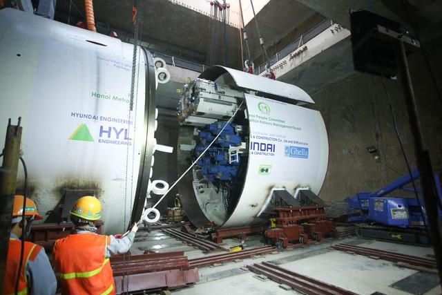 Tận mắt Robot sẵn sàng đào hầm tuyến đường sắt đô thị số 3, đoạn Nhổn - ga Hà Nội - Ảnh 4.
