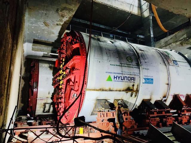 Tận mắt Robot sẵn sàng đào hầm tuyến đường sắt đô thị số 3, đoạn Nhổn - ga Hà Nội - Ảnh 6.