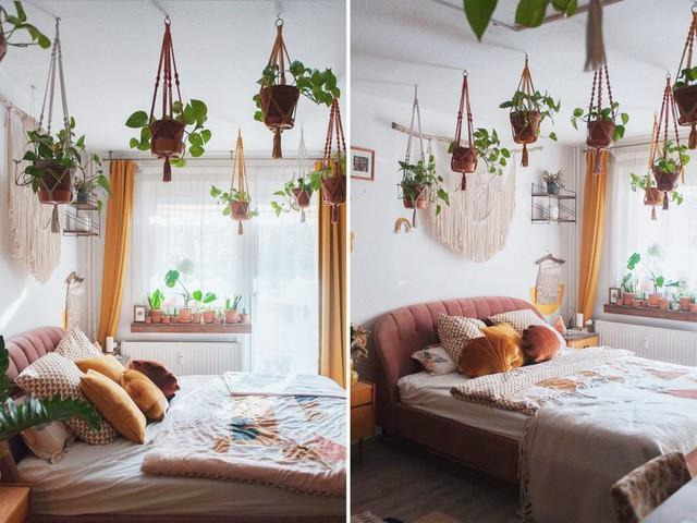 Biến căn hộ 32m2 trở thành không gian sống lý tưởng với nhiều cây xanh: Thay tông màu đen trắng thành nâu và vàng mù tạt  - Ảnh 3.