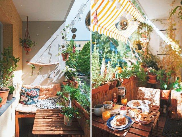 Biến căn hộ 32m2 trở thành không gian sống lý tưởng với nhiều cây xanh: Thay tông màu đen trắng thành nâu và vàng mù tạt  - Ảnh 7.